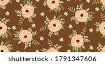 seamless cute floral wallpaper... | Shutterstock .eps vector #1791347606