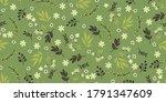 seamless cute floral wallpaper... | Shutterstock .eps vector #1791347609