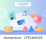 cloud storage illustration set... | Shutterstock .eps vector #1791364133