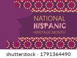 national hispanic heritage...   Shutterstock .eps vector #1791364490