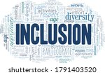 inclusion word cloud isolated...   Shutterstock .eps vector #1791403520