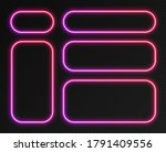 neon gradient frames set ... | Shutterstock .eps vector #1791409556