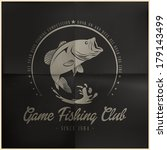 game fishing club badge | Shutterstock .eps vector #179143499