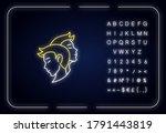 gemini zodiac sign neon light...   Shutterstock .eps vector #1791443819