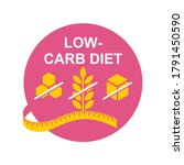 low carbohydrate diet that...   Shutterstock .eps vector #1791450590