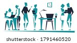 people in the office. working...   Shutterstock .eps vector #1791460520