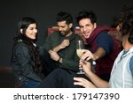 multiethnic group of friends... | Shutterstock . vector #179147390