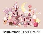 baby girl baby shower design... | Shutterstock .eps vector #1791475070
