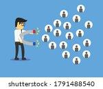 employee man attracting... | Shutterstock .eps vector #1791488540