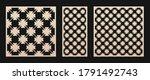 laser cut panel set. vector... | Shutterstock .eps vector #1791492743