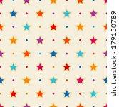 Retro Seamless Pattern. Color...