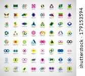 unusual icons set   isolated on ... | Shutterstock .eps vector #179153594