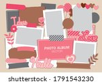 picture frame with paper... | Shutterstock .eps vector #1791543230