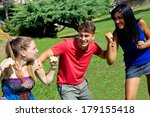 handsome man having fun about... | Shutterstock . vector #179155418