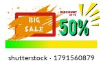 big sale  design a sales... | Shutterstock .eps vector #1791560879
