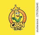 corn king mascot character logo | Shutterstock .eps vector #1791562640
