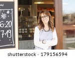 beautiful small coffee shop... | Shutterstock . vector #179156594