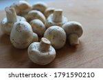Fresh Champignon Mushrooms On...