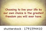 Inspire Quote About Choosing T...