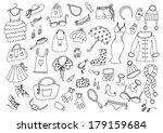 fashion hand drawn set   Shutterstock .eps vector #179159684
