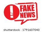 fake news   red rubber stamp on ...   Shutterstock .eps vector #1791607040