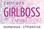 girlboss female emancipation... | Shutterstock .eps vector #1791642116