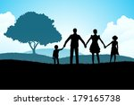 nature background with family... | Shutterstock . vector #179165738