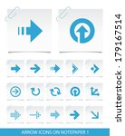 arrow icons on notepaper 1. | Shutterstock .eps vector #179167514