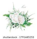 vector floral bouquet design ... | Shutterstock .eps vector #1791685253