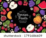 berries and fruits drawing... | Shutterstock .eps vector #1791686609