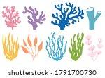 Vector Set Of Colored Corals...