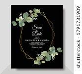 eucalyptus wedding invitation...   Shutterstock .eps vector #1791731909
