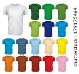 a multicolored set of blank... | Shutterstock .eps vector #179175464