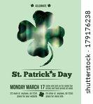 elegant st. patrick's day... | Shutterstock .eps vector #179176238