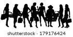 vector silhouette of  women who ...