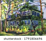 Rural Dacha House In The Fores...
