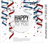 birthday card with curling... | Shutterstock .eps vector #179181230