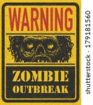 poster zombie outbreak. sign... | Shutterstock . vector #179181560