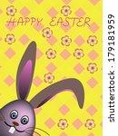 easter rabbit on colorful... | Shutterstock .eps vector #179181959