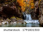 Autumn Mountain Waterfall...