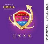 omega 3 nutrition and vitamin... | Shutterstock .eps vector #1791831836