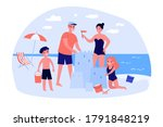 happy family with children... | Shutterstock .eps vector #1791848219