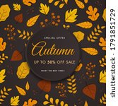 Autumn Sale Poster Design With...