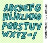 hand drawn comic font with... | Shutterstock .eps vector #179186030