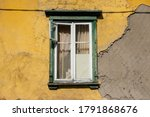 Vintage Green Wooden Window On...