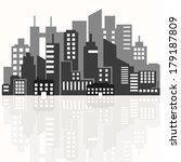 illustration of the silhouette... | Shutterstock . vector #179187809