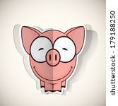 cartoon piggy character cut out ... | Shutterstock .eps vector #179188250