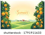 rural landscape with villages... | Shutterstock .eps vector #1791911633