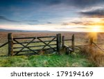 a wooden gate leading on to... | Shutterstock . vector #179194169