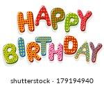 happy birthday letters | Shutterstock .eps vector #179194940